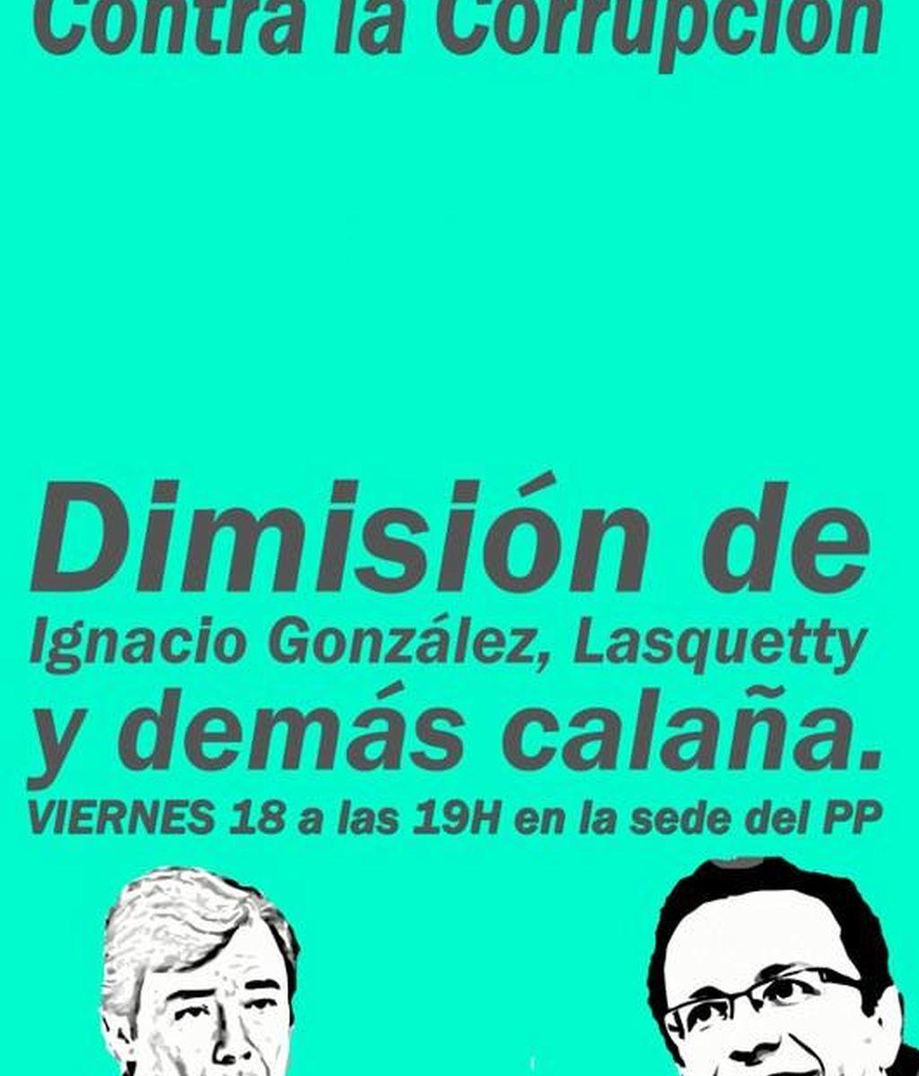 Convocada una concentración frente a la sede del PP en Madrid para denunciar la corrupción