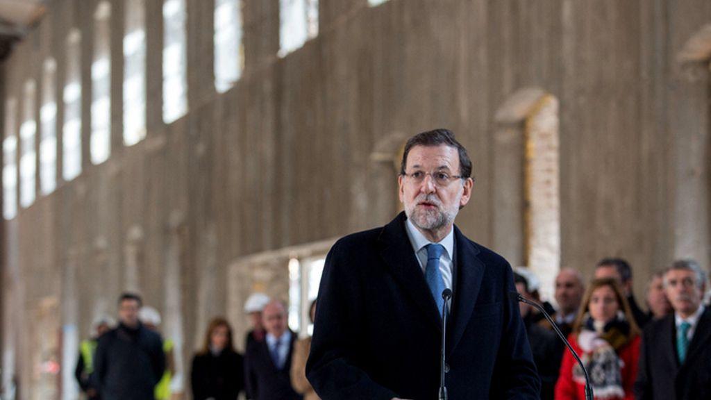El presidente del Gobierno, Mariano Rajoy, visita las obras del nuevo Palacio de Justicia