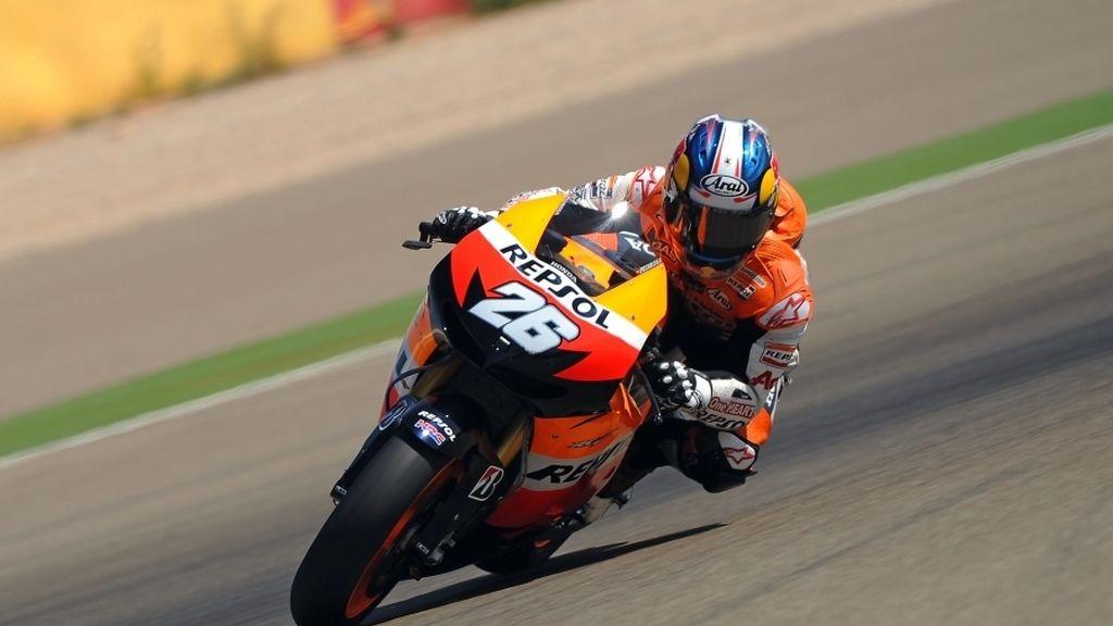 Dani Pedrosa, rodando con la Honda
