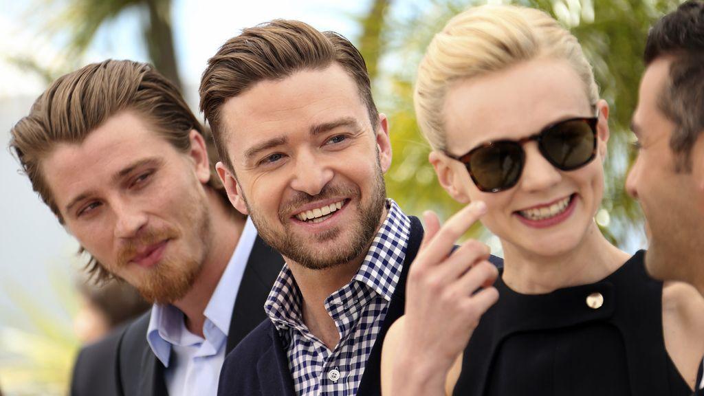 Justin Timberlake, Garrett Hedlund y Carey Mulligan en el Festival de Cannes 2013