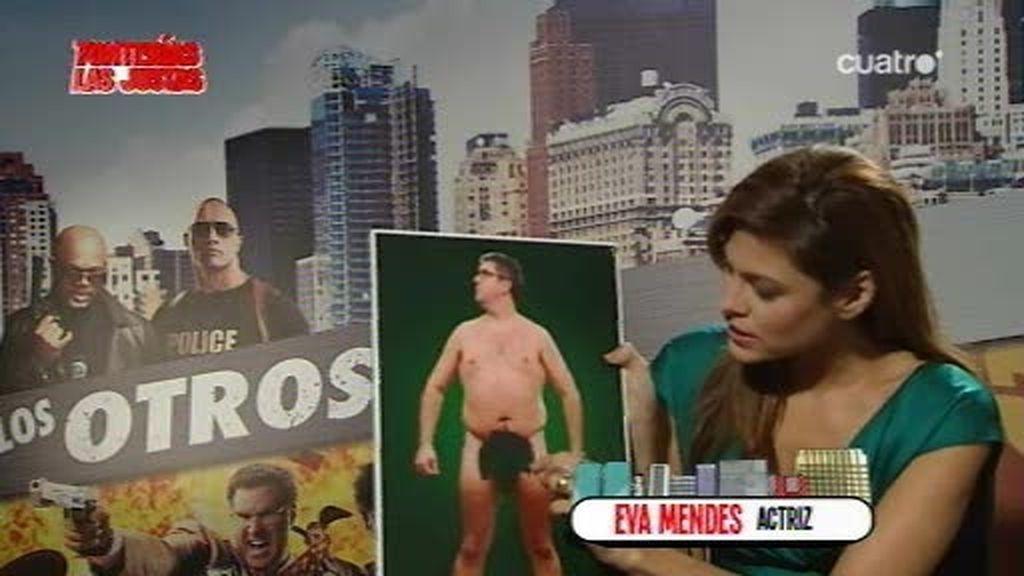 Romina con Eva Mendes y Will Ferrell