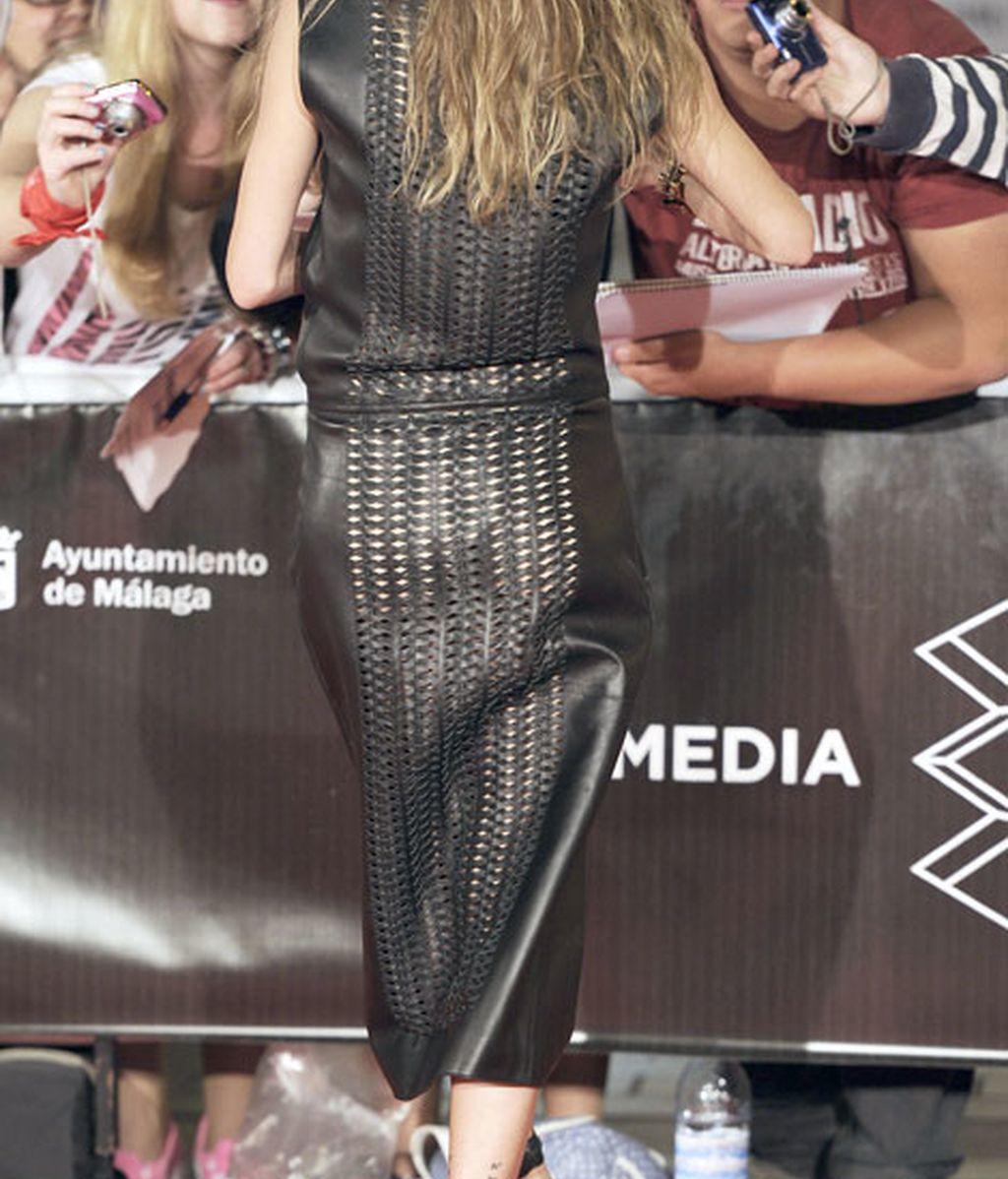 Ana se viste de negro para el premio 'Málaga Sur'