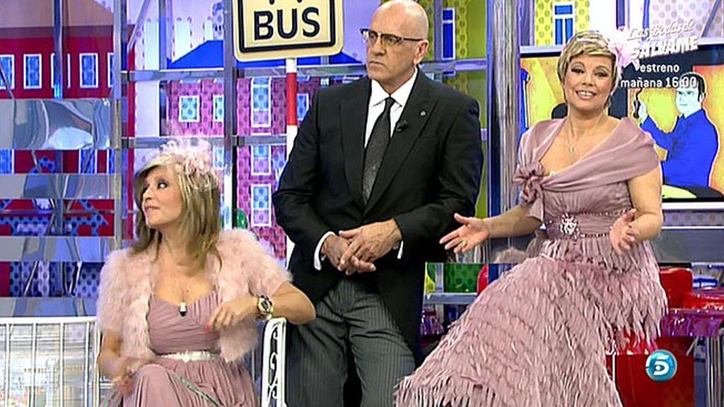 Los colaboradores de 'Sálvame' se visten de boda