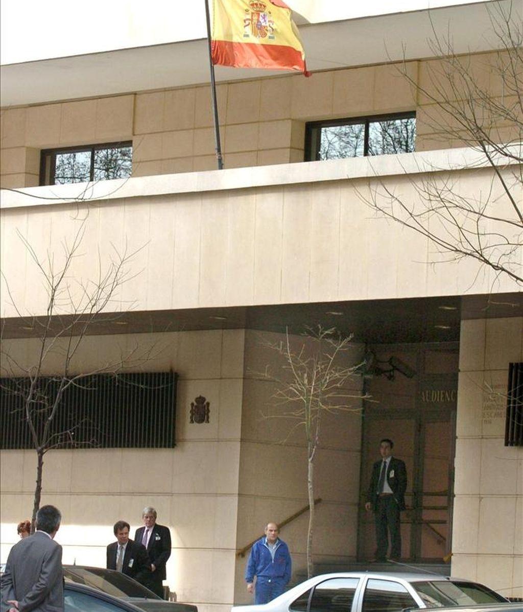 Fachada del edificio de la Audiencia Nacional en Madrid. EFE/Archivo