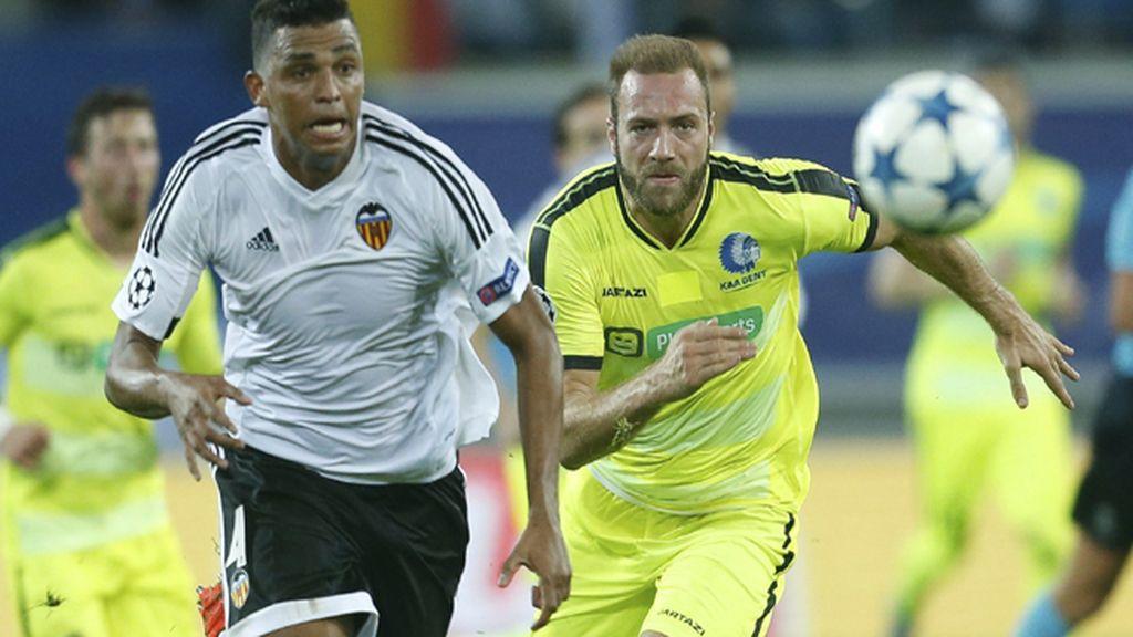 Kaa Gent contra Valencia CF, Liga de Campeones