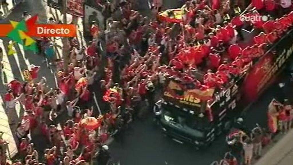 Paseo triunfal por las calles de Madrid