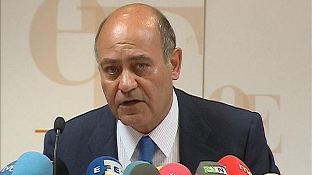 El presidente de la Confederación Española de Organizaciones Empresariales (CEOE), Gerardo Díaz Ferrán. EFE/Archivo