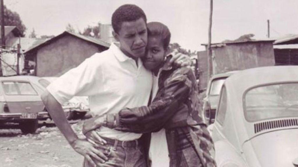 Barack y Michelle Obama, de jóvenes