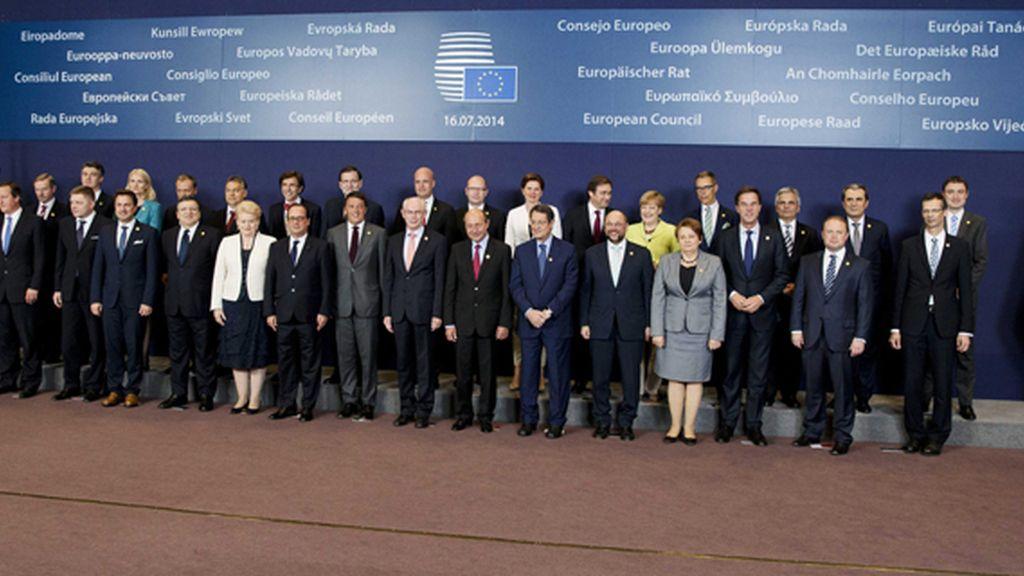 Foto de familia de los jefes de Estado y Gobierno de la Unión Europea, en Bruselas