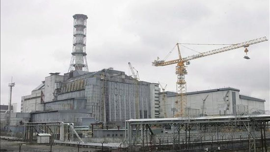 Vista general de la planta nuclear de Chernóbil, Ucrania. EFE/Archivo