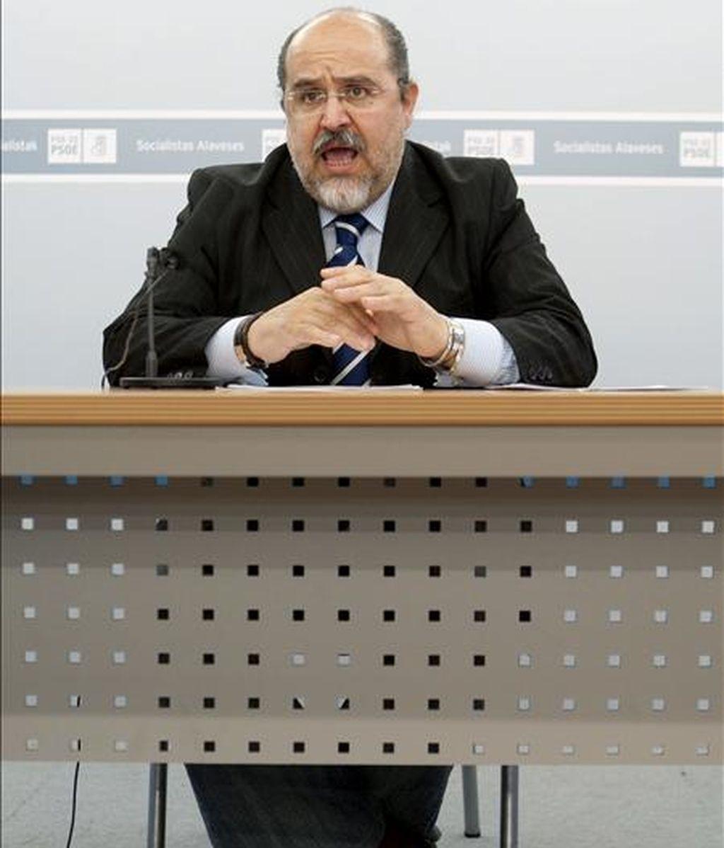 El secretario general del PSE-EE de Álava, Txarli Prieto. EFE/Archivo