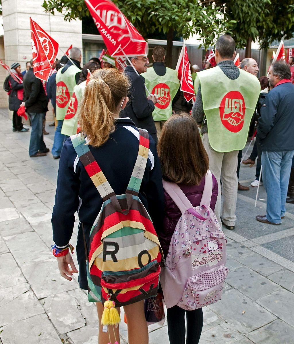 Estudiantes el día de la huelga general