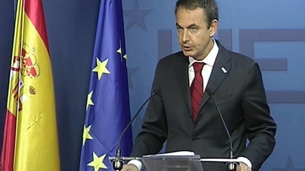 Zapatero, en rueda de prensa