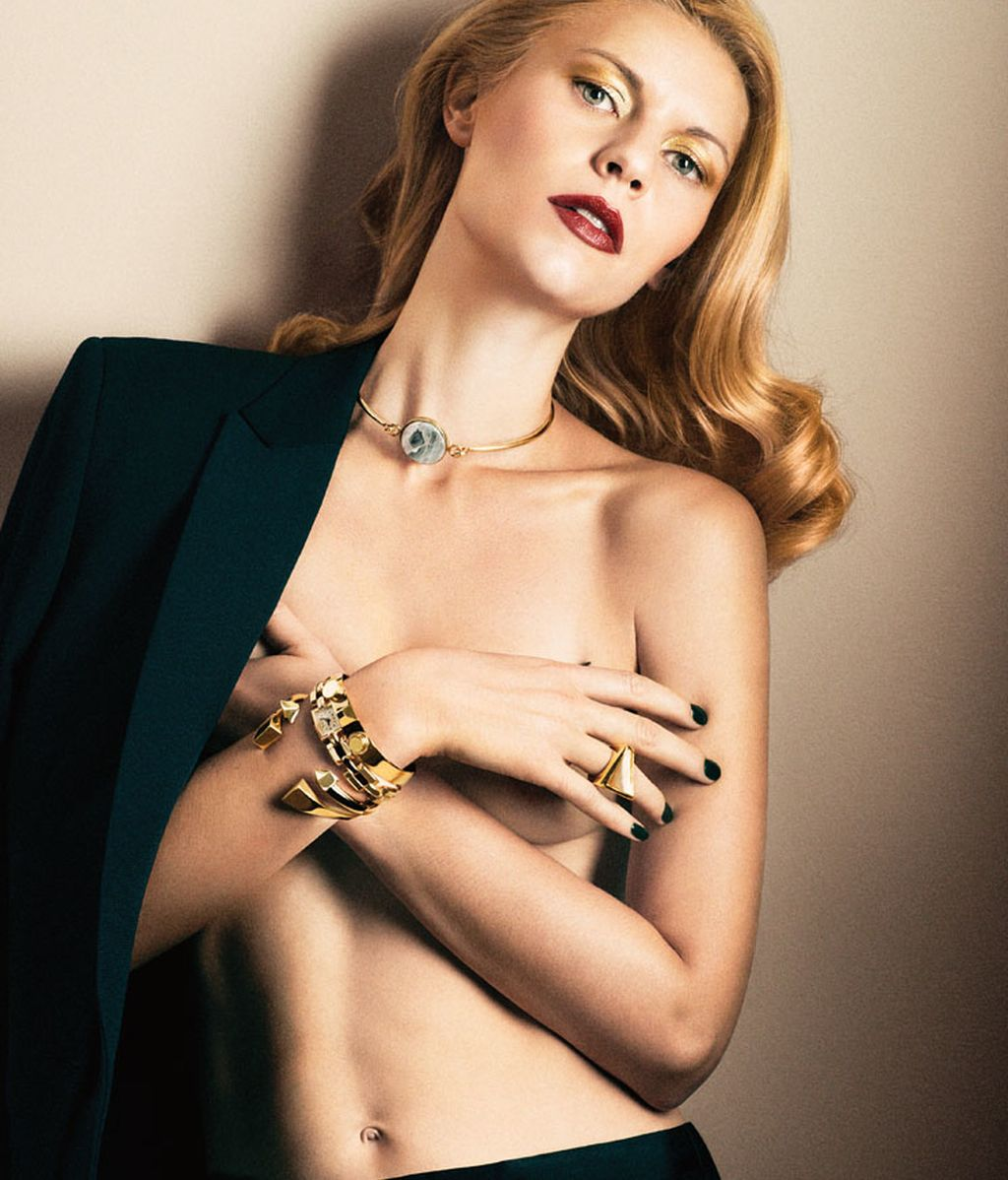 Claire Danes posa en topless en 'Interview'