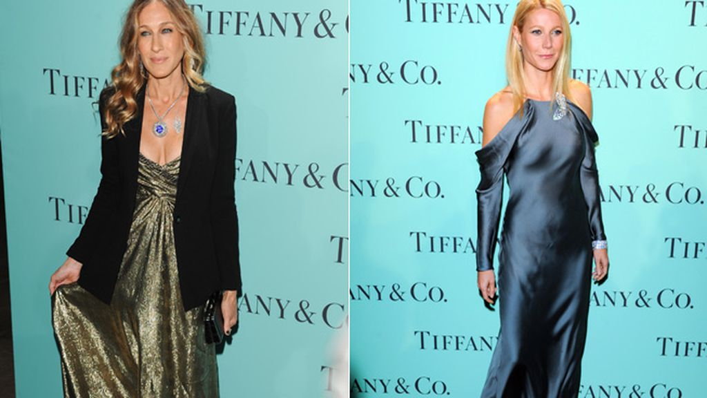 Sarah Jessica Parker y Gwyneth Paltrow en la fiesta de Tyffany's and Co