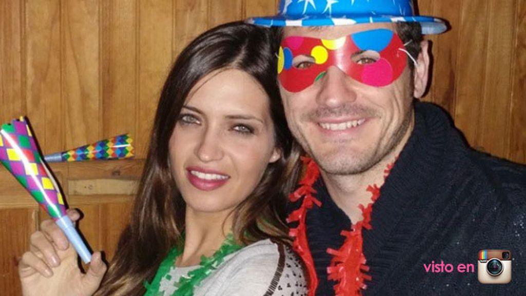 Iker Casillas y Sara Carbonero no se olvidaron del cotillón