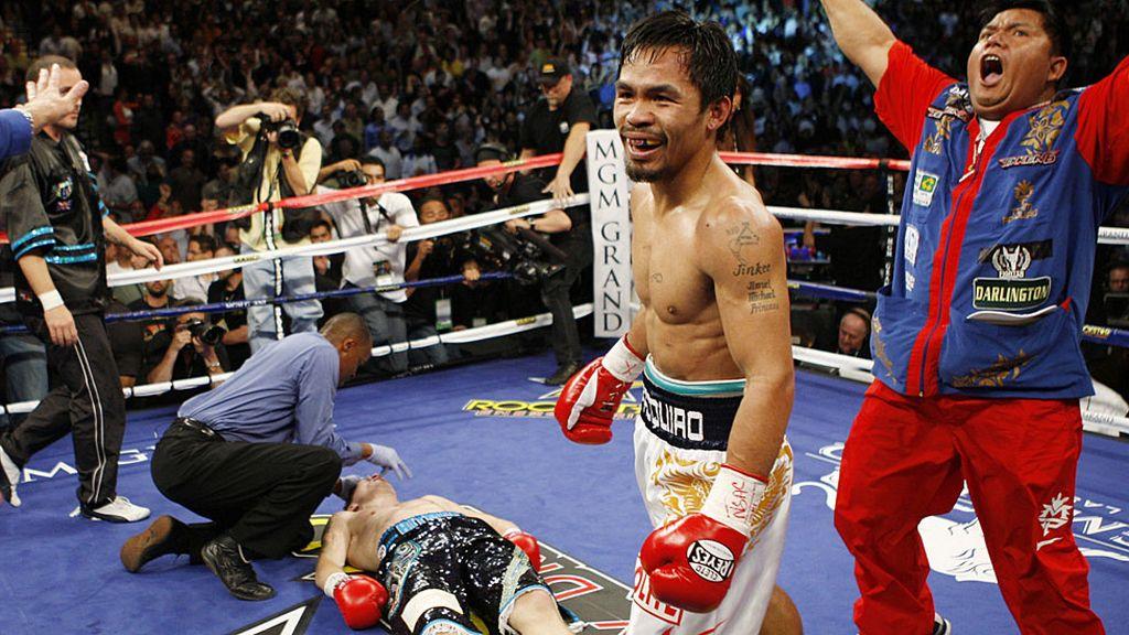 Pacquiao vapuleó a Ricky 'The Hitman' Hutton en una pelea 'resucitada'