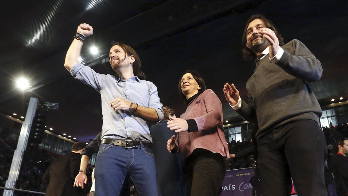 Pablo Iglesias durante un acto de campaña