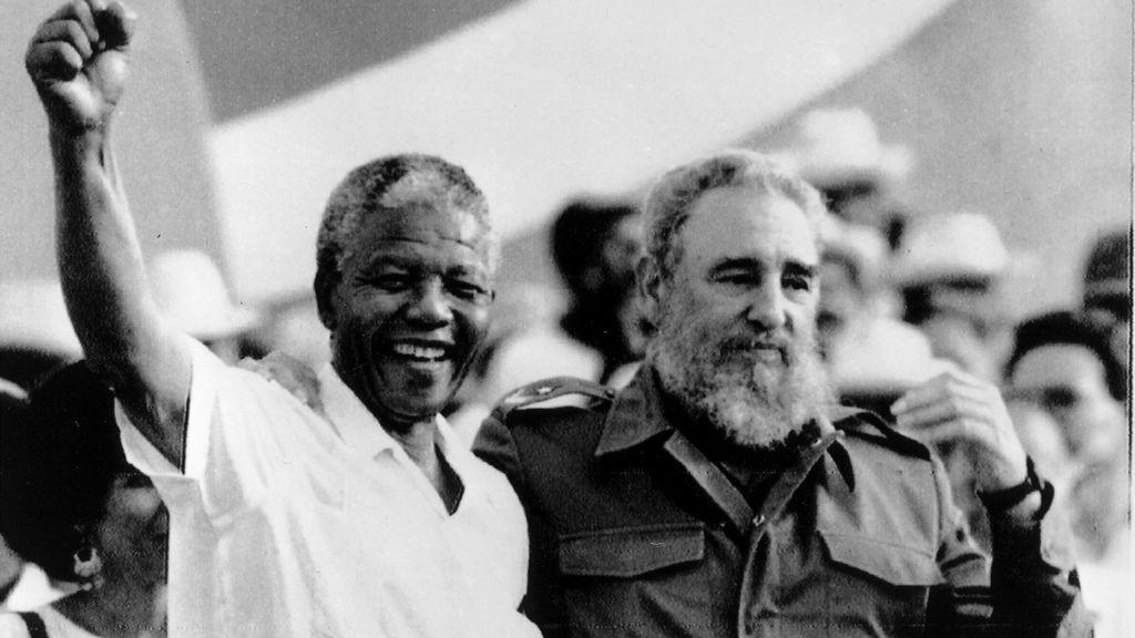 Mandela se codeó con líderes internacionales de todo signo