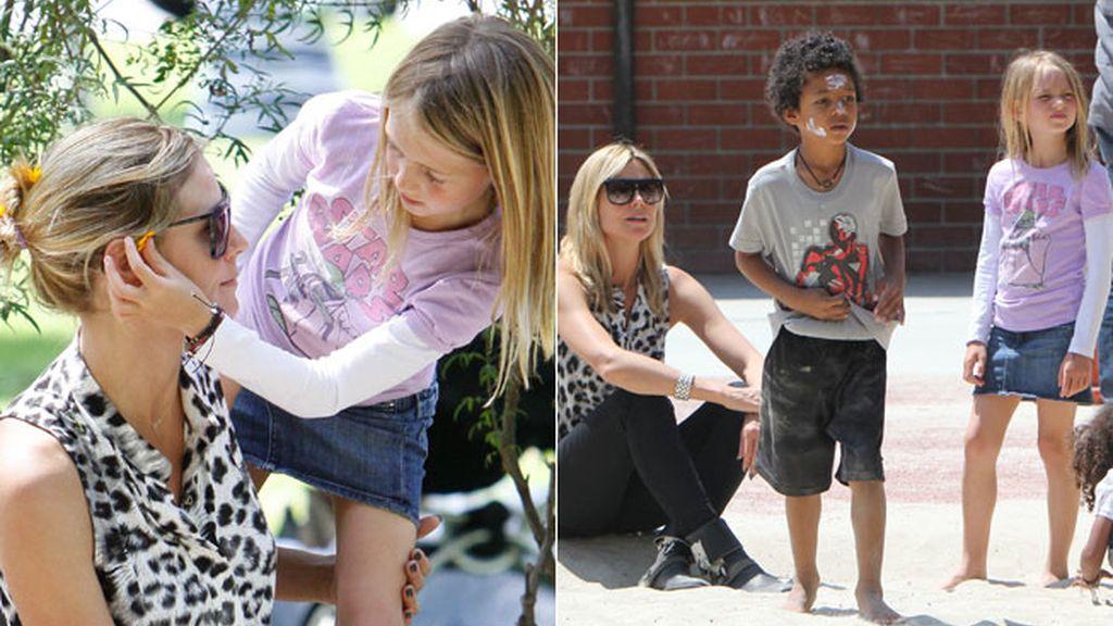 Leni y Johan, los hijos de Heidi Klum
