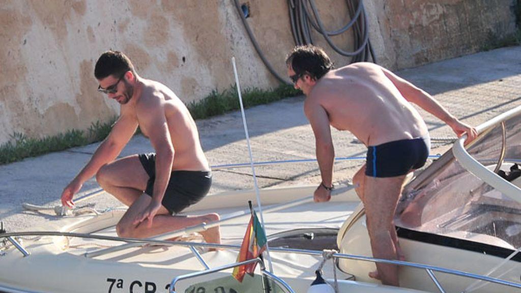 Miguel Ángel Silvestre, en aguas de Ibiza