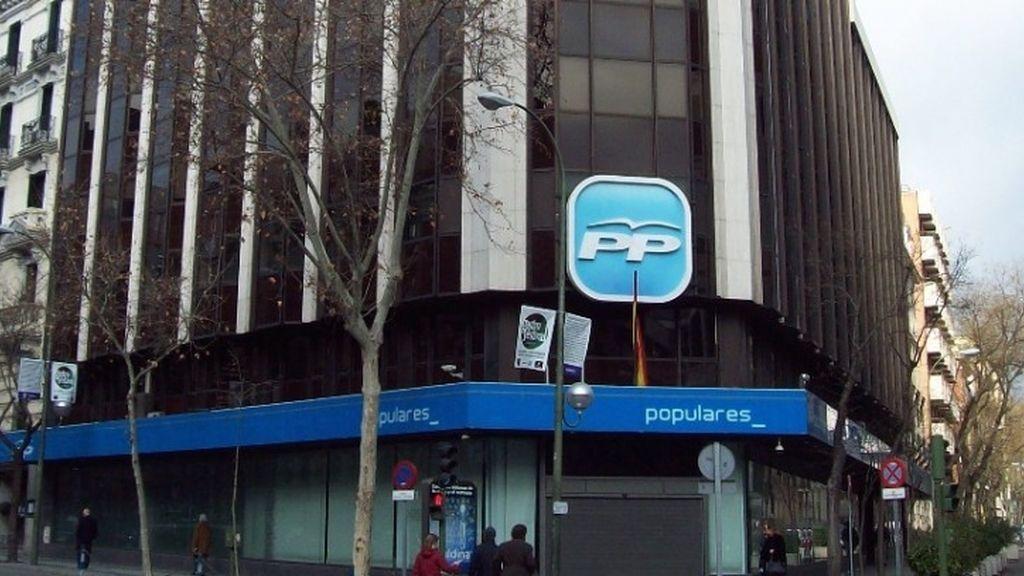Sede nacional del Partido Popular en la calle Génova de Madrid
