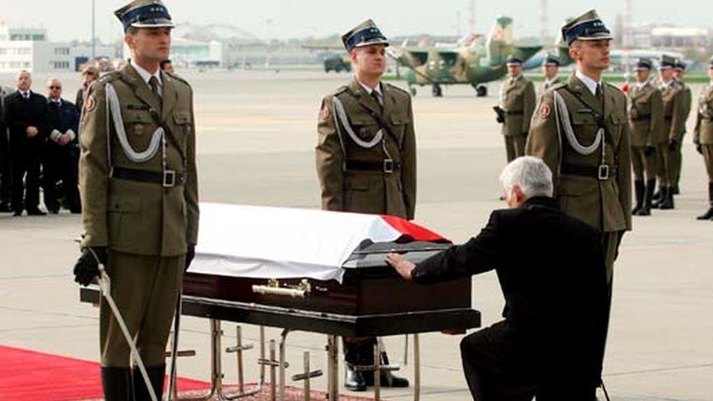 Los restos de Kaczynski, en Varsovia