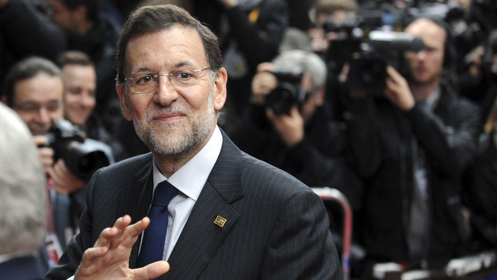 Mariano Rajoy, a su llegada a la cumbre de la Unión Europea en Bruselas