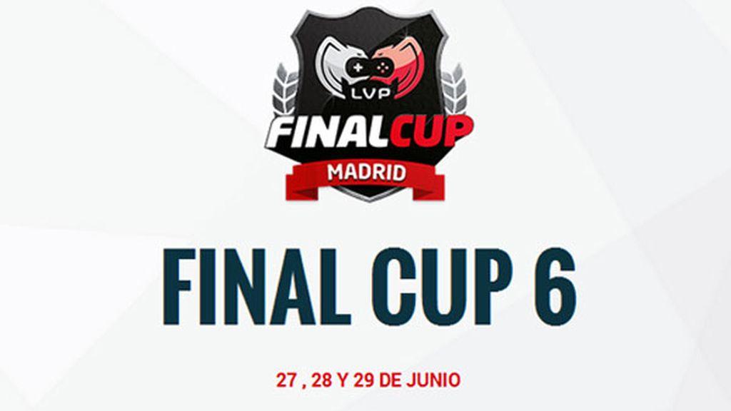 Final Cup 6, logo, blanco