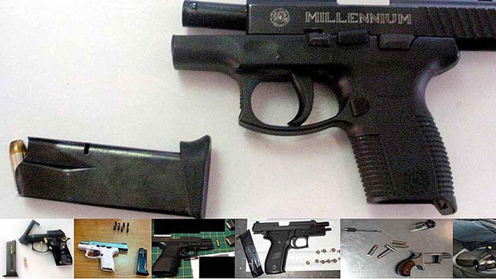 Armas requisadas en los aeropuertos norteamericanos