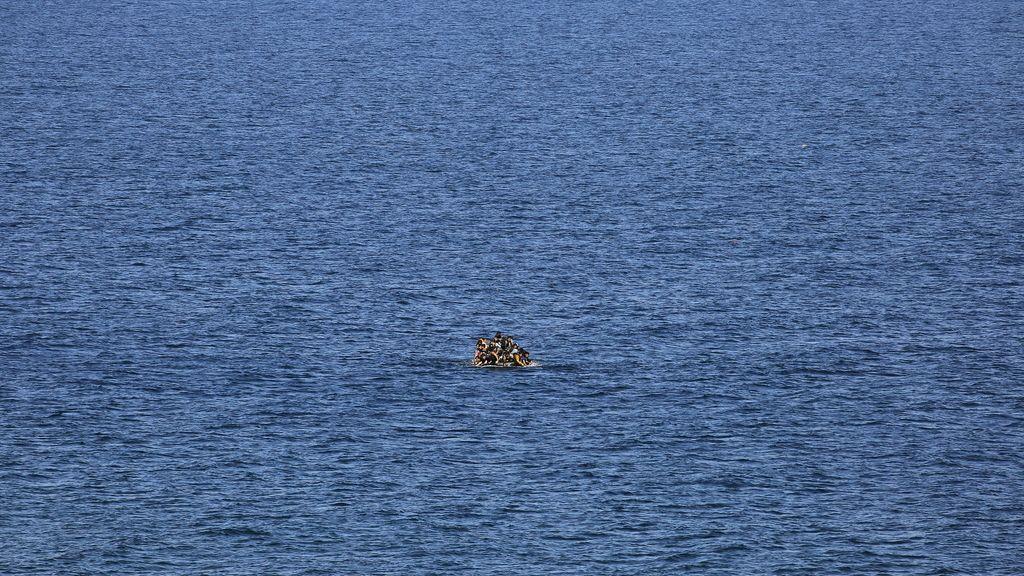 Refugiados en una balsa