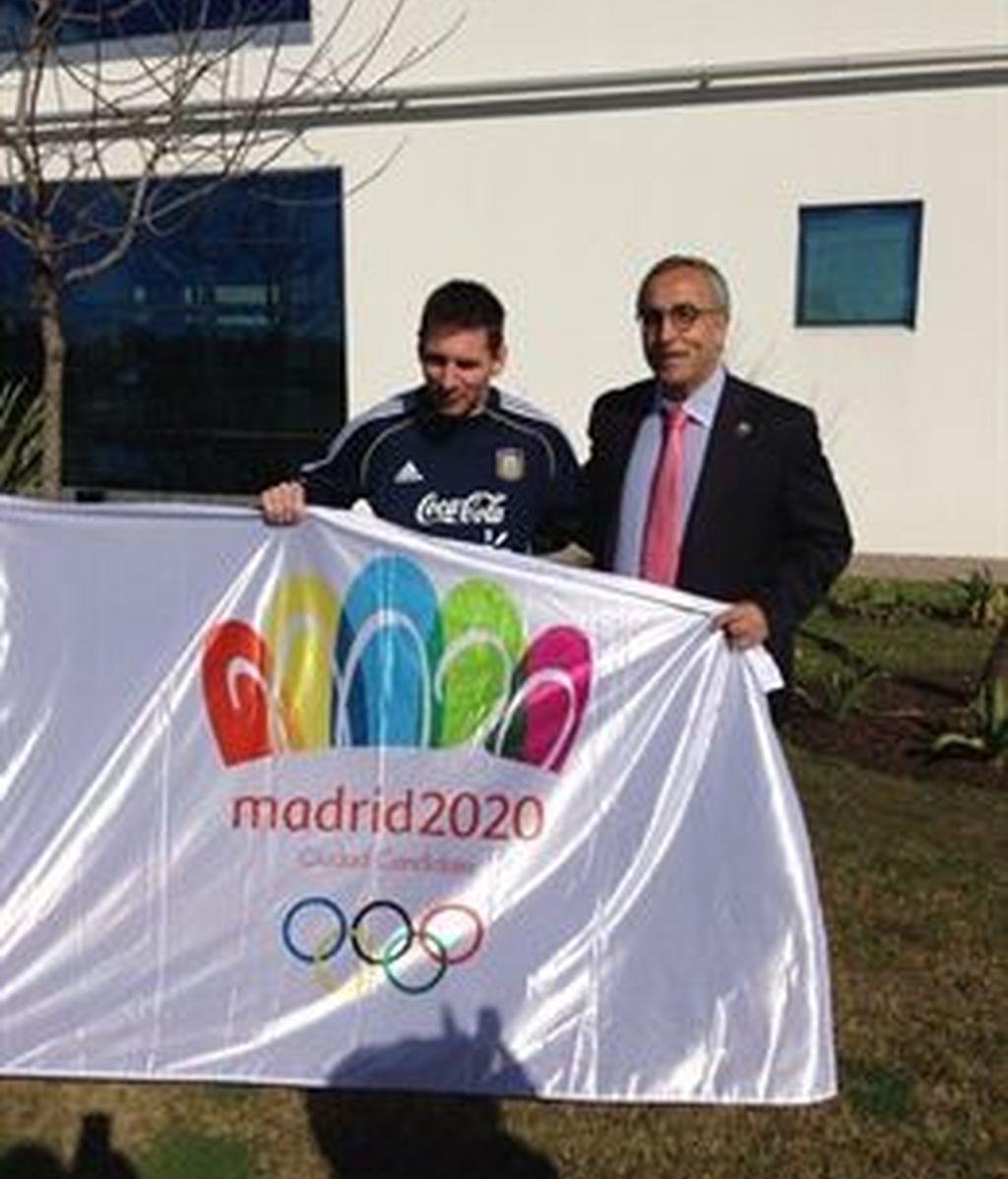 El jugador del FC Barcelona y capitán de la selección argentina, Leo Messi, ha dado su apoyo a la candidatura de Madrid para albergar los Juegos Olímpicos y Paralímpicos de 2020
