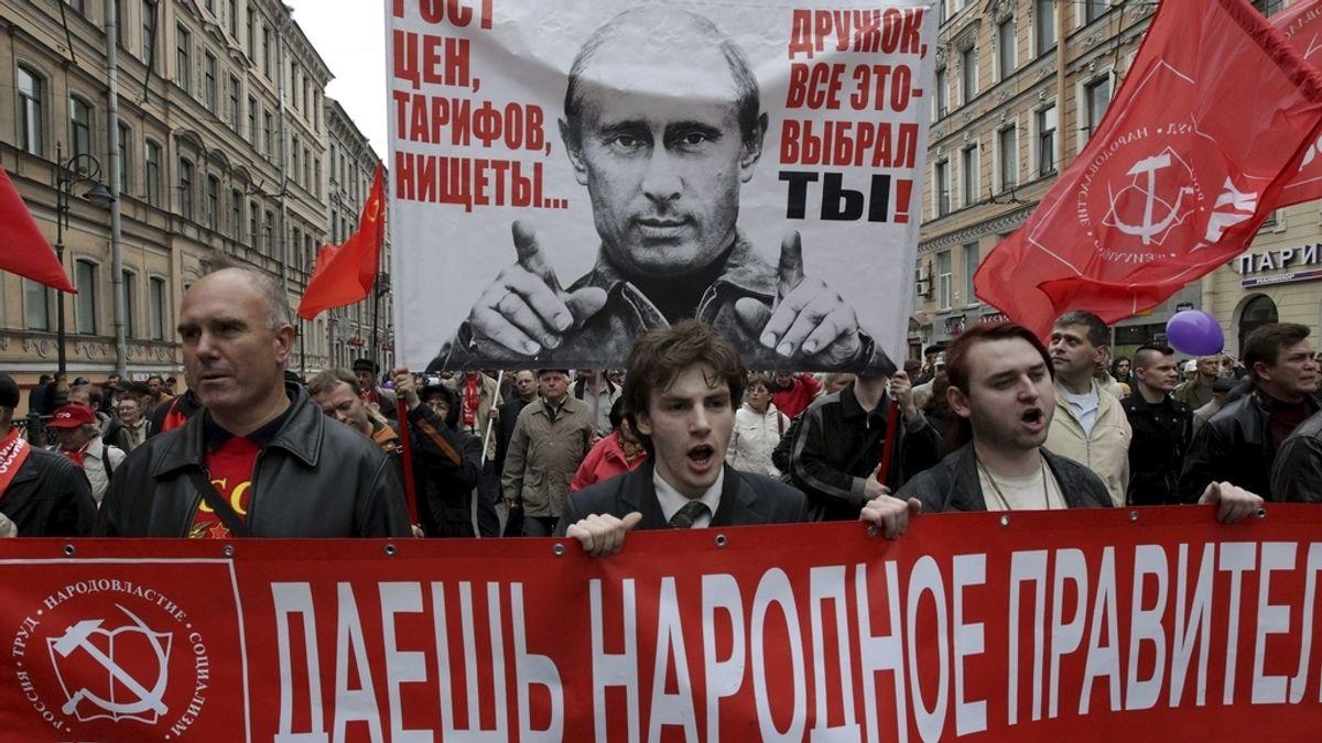 Manifestaciones en Rusia contra Putin. Foto: EFE