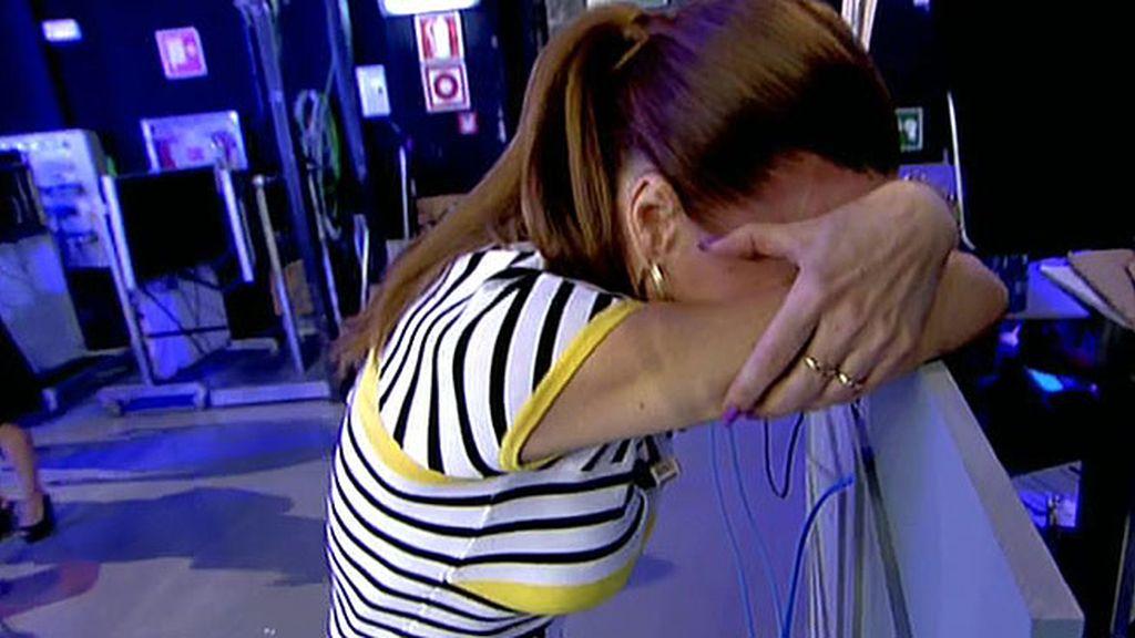 Raquel Moragues abandona corriendo el plató tras escuchar a su hijo