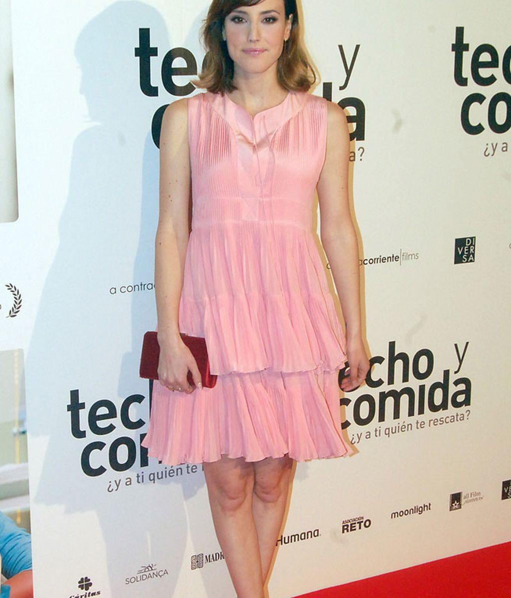 Natalia de Molina estrenó 'Techo y comida' con un Dior de la colección Resort 2016