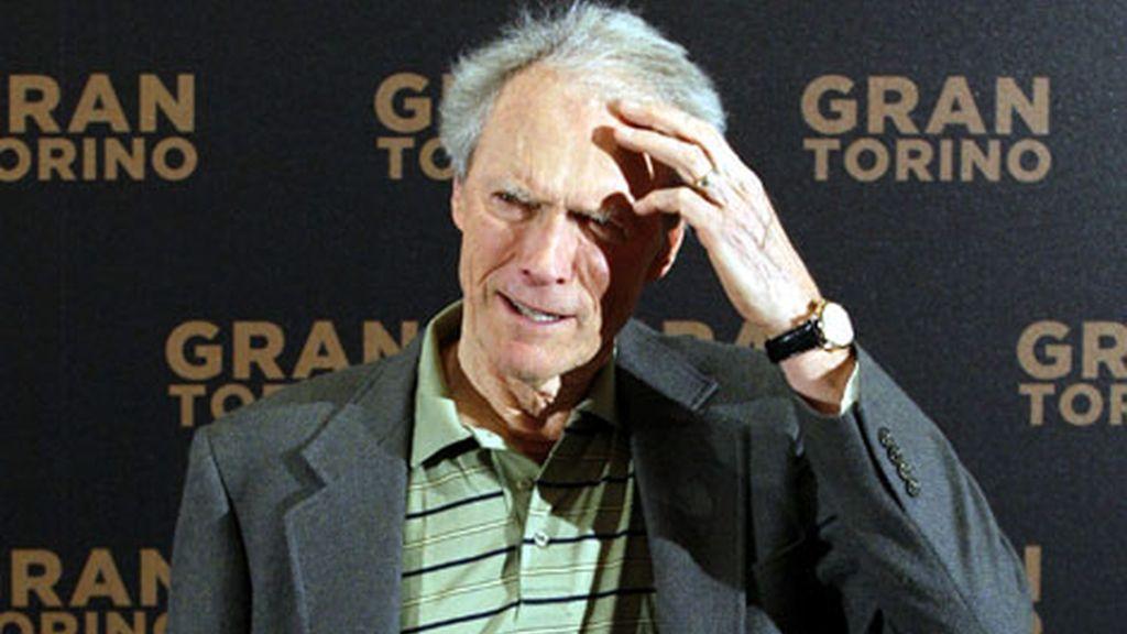 Clint Eastwood, en París en la presenatción de Grand Torino