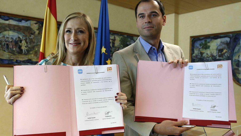 PP y Ciudadanos ratifican su acuerdo para la investidura de Cifuentes