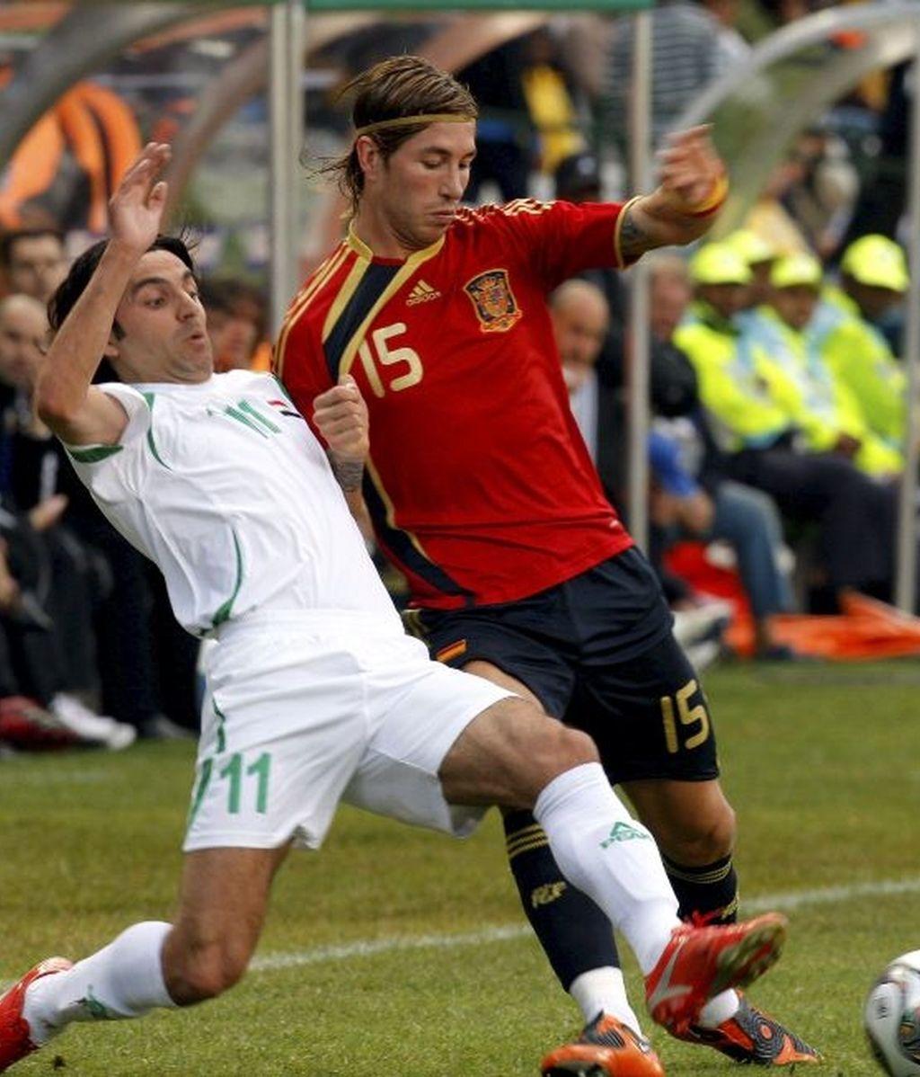 España - Irak, en imágenes