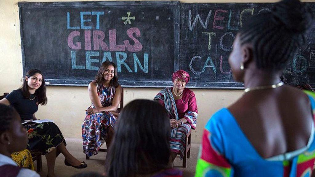 Michelle Obama llega a España para hablar de la educación de las niñas