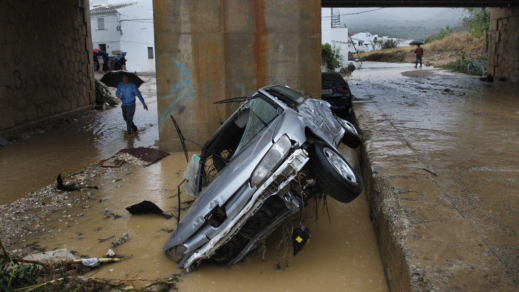 Lluvias torrenciales en Málaga