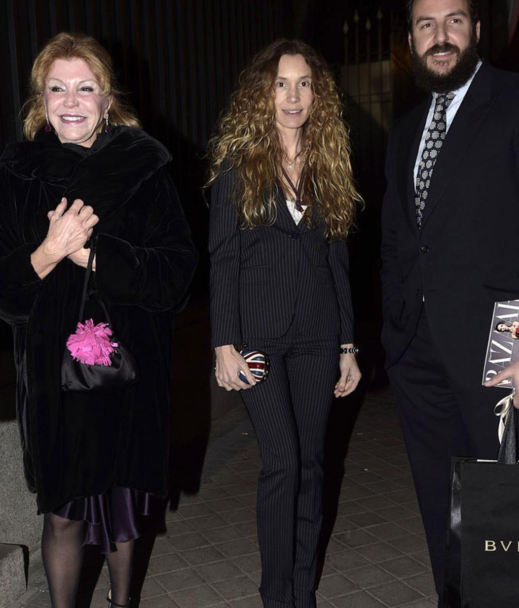 La baronesa Thyssen acudió junto a su hijo Borja y su nuera Blanca Cuesta
