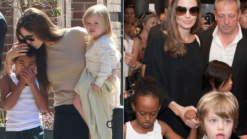 Maddox, Vivienne, Zahara, Siloh y Pax, los hijos de Angelina Jolie y Brad Pitt