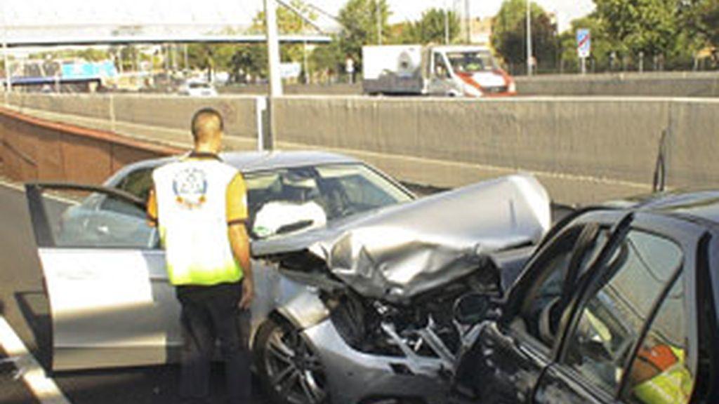 Accidente en Madrid este fin de semana. Foto: EFE
