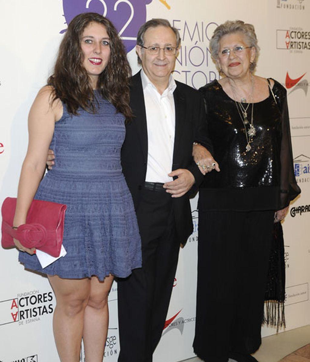 Los actores José Antonio Sayagués y Pilar Bardem tampoco faltaron al evento
