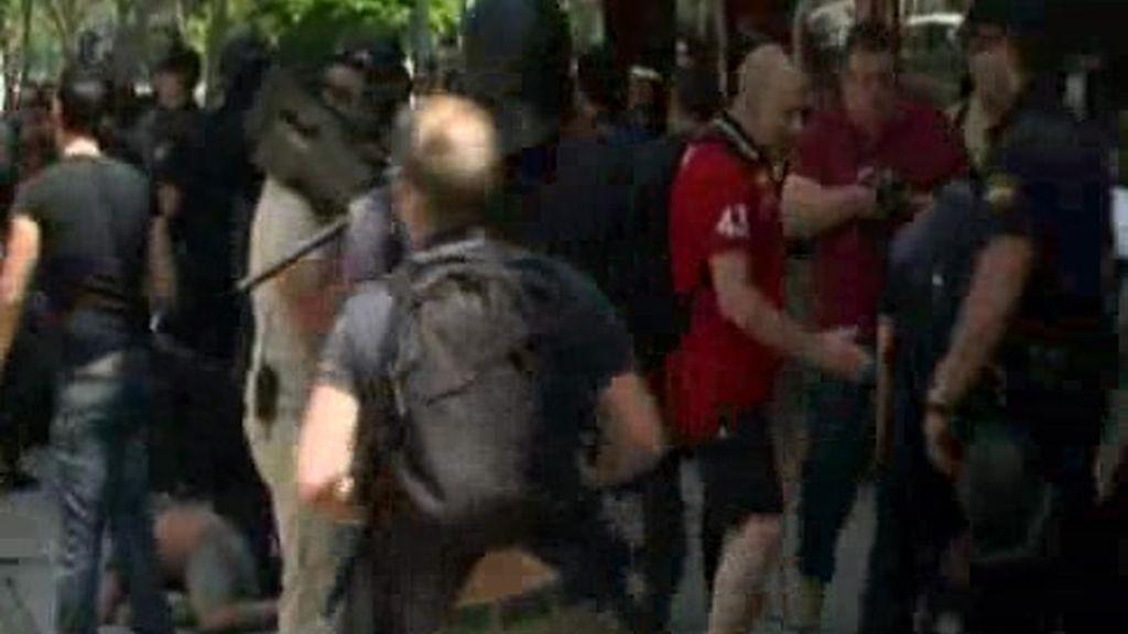Carga policial en Valencia