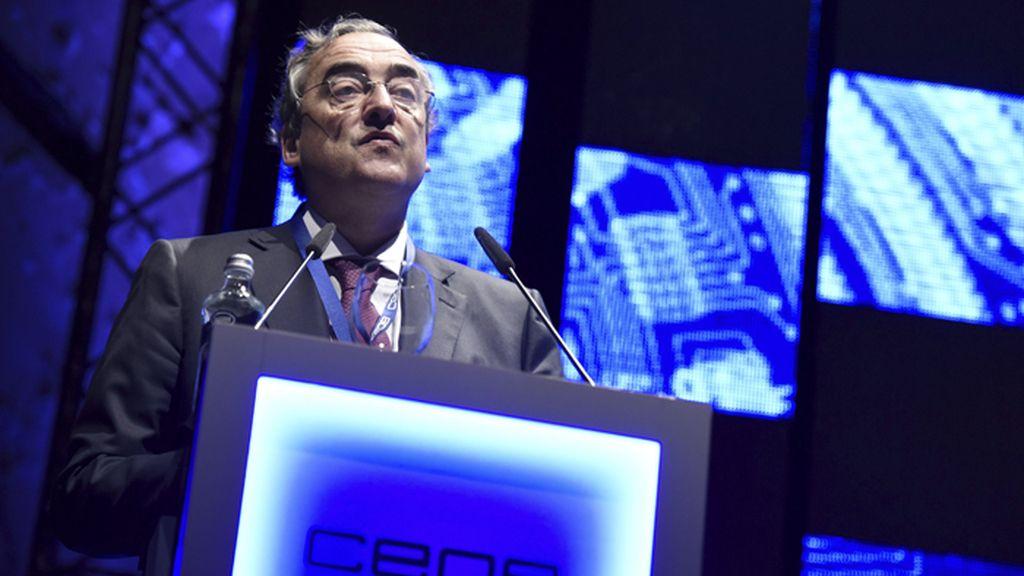 Juan Rosell durante su intervención en la Asamblea General de la CEOE