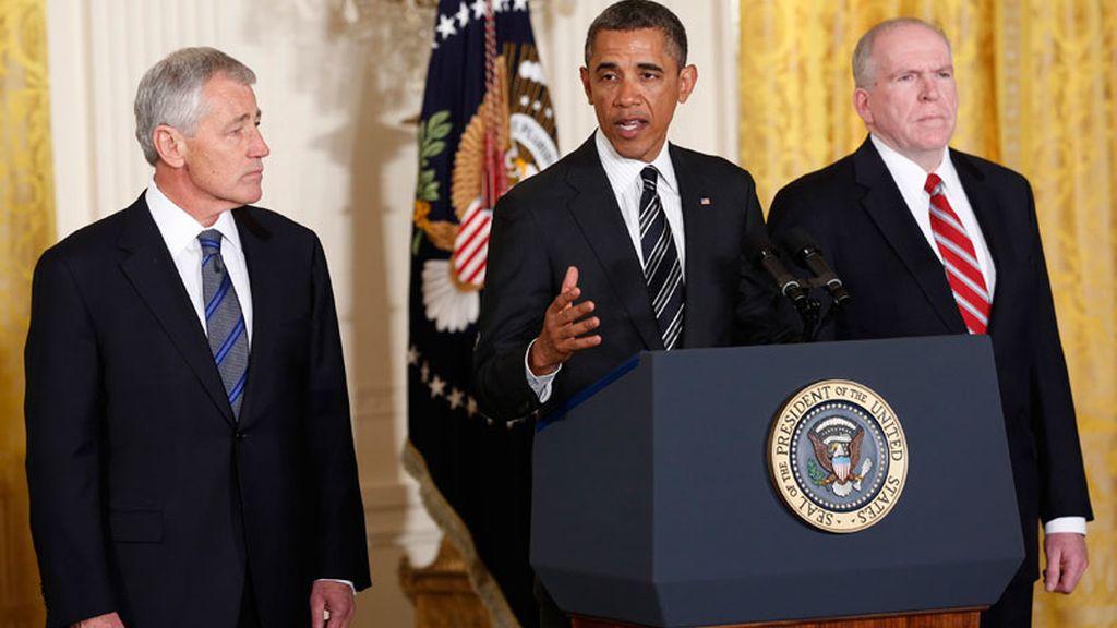 Obama confirma a Chuck Hagel para Defensa y a John Brennan para la CIA