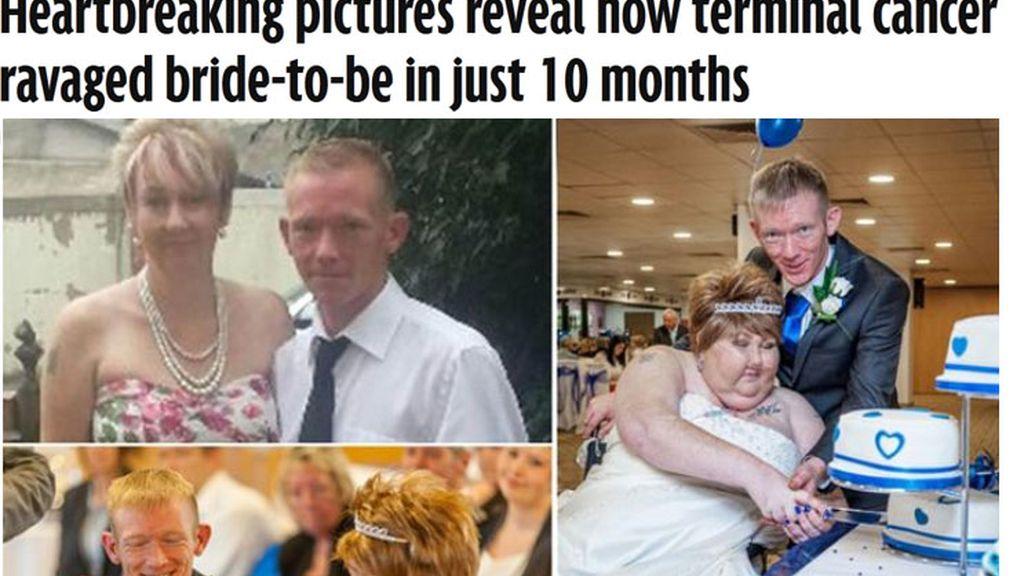 Se casan tras diagnosticar a la mujer una enfermedad terminal