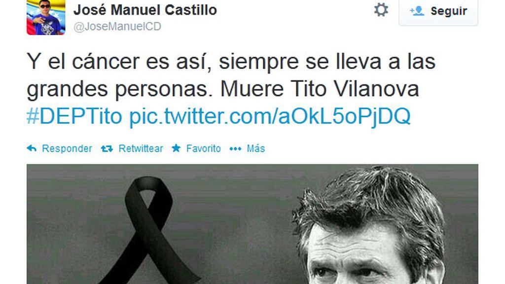 Tito Vilanova,Twitter,trending topic,muerte de Tito Vilanova