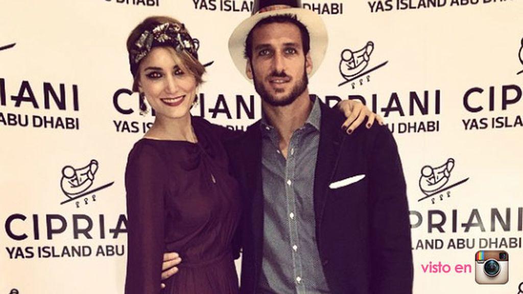 Alba Carrillo y Feliciano López, vestidos para la ocasión